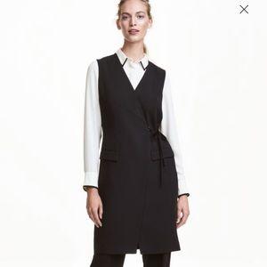 H&M long wrapover waistcoat